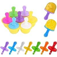 Mini Moldes para Paletas de Hielo, Molde de Mini Helado, Silicona Moldes Mini Popsicle Hielo, Molde Silicón para Mini…