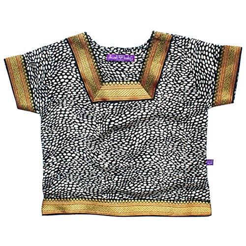 Indian Baby Kameez Shirt - Silk Crepe de Chine - Animal Print -6-12 Months