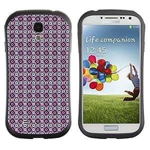 DesignCase Premium TPU / ABS Hybrid Back Case Cover Samsung Galaxy S4 IV i9500 ( cute flower )