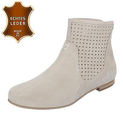 Cingant Woman Damen Stiefelette/Blockabsatz/Halbhohe Stiefel/Damenschuhe/Boots/Grau, EU 40