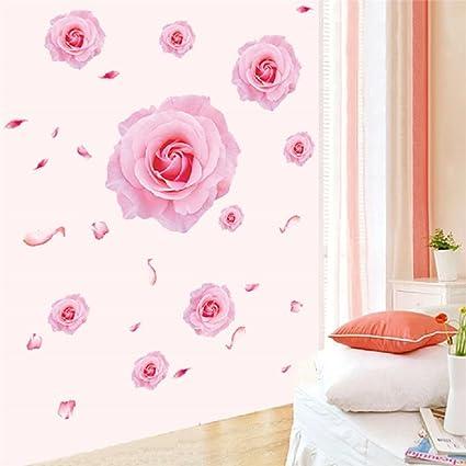 Amazon.com: Suyunyuan DIY Big Flower Wall Stickers Floral Sofa TV ...