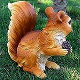 Accreate Creative Outdoor Resin Squirrel Figurine Simulation Animal Artwork as Garden&Park Decor (1313)