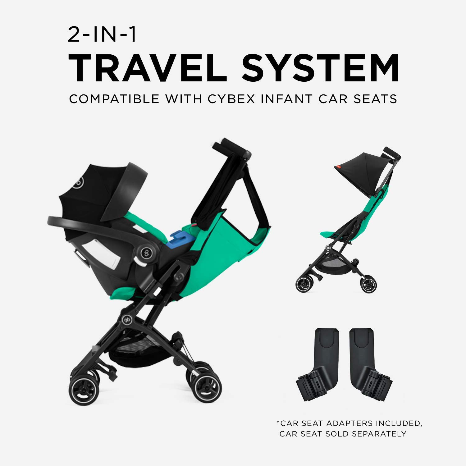 gb Pockit+ Lightweight Baby Stroller, Umbrella Stroller, Collapsible, Travel-Friendly, Folds into Backpack, Fits in Overhead Compartments, Reclining Seat, UPF50+ Sun Canopy, Laguna Blue by gb (Image #9)