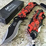 Best Get Hidden Pocket Knives - MOON KNIVES MTECH Ballistic BOWIE Black Red SKULL Review