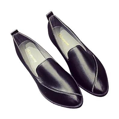 Jipai(TM) Zapatos Mujer de Suave PU Cuero Zapatos Clásicos Mocasines Primavera Otoño Calzado
