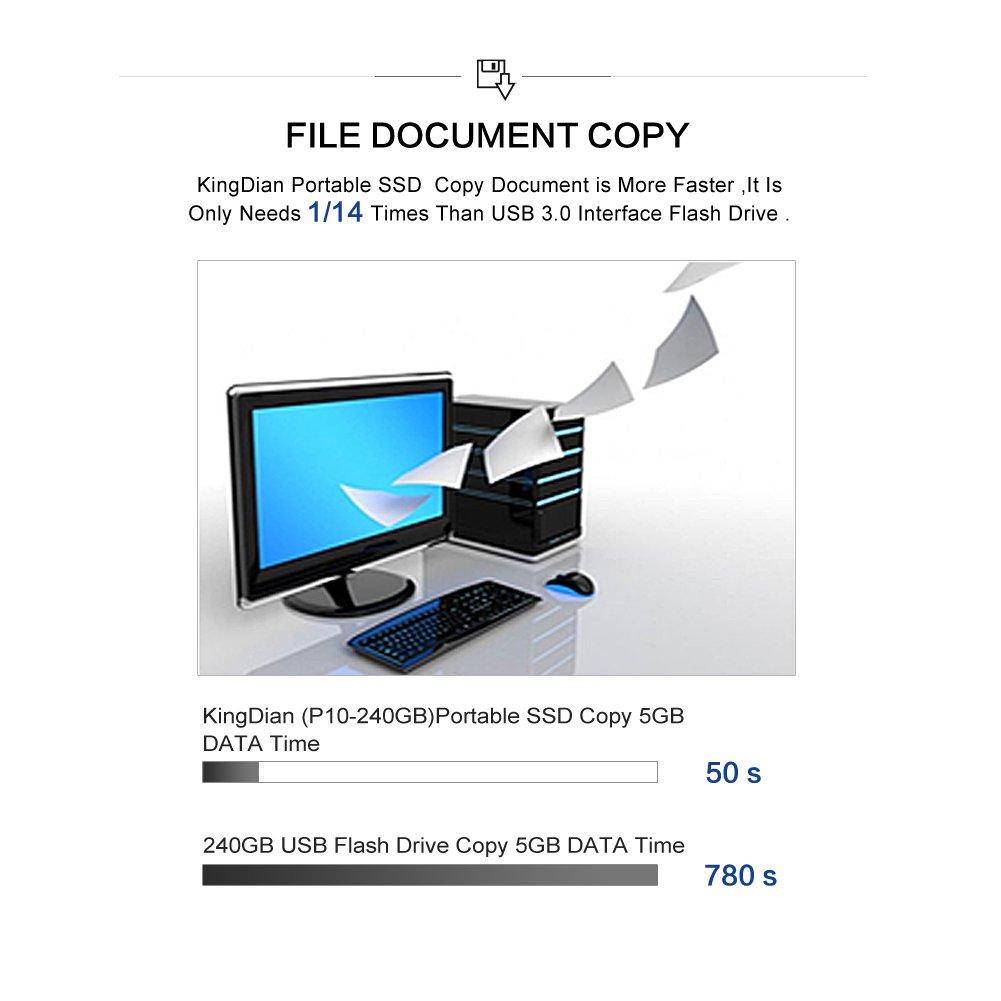 KingDian 120gb 240gb External SSD USB 3.0 Portable Solid State Drive (120GB) by KINGDIAN (Image #6)