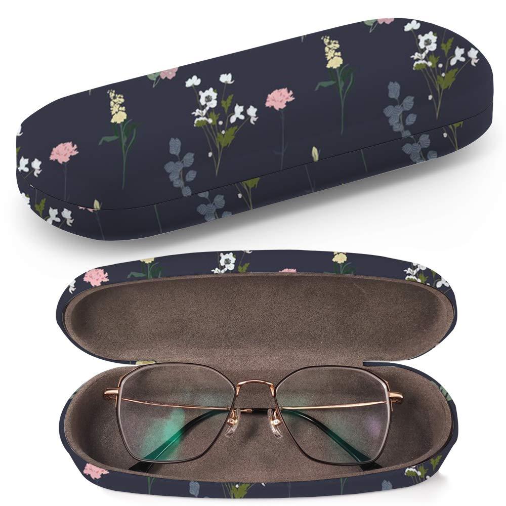 Elegance Flowers Leaffloral Art-Strap Custodia rigida per occhiali da sole custodia per occhiali in plastica con panno per la pulizia