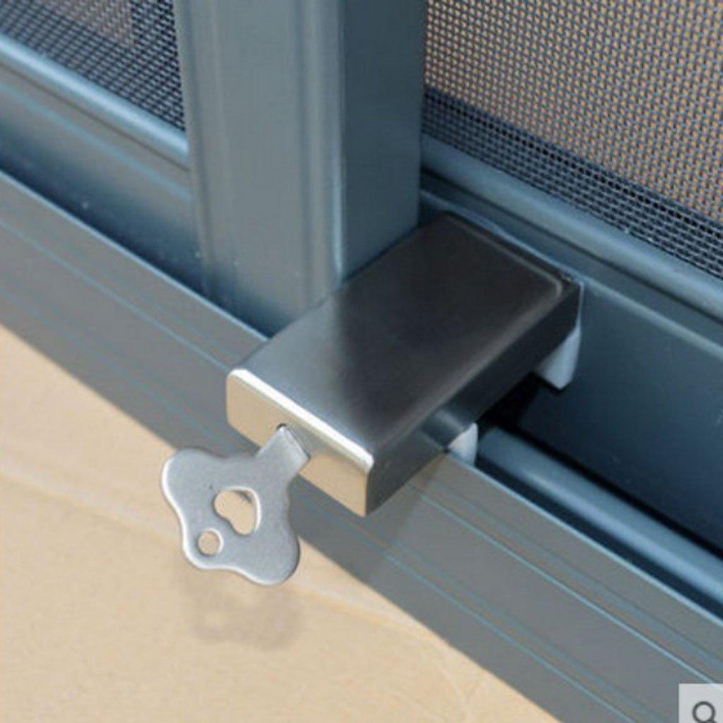 Baoblaze Schiebefenster Schiebet/ür Sicherheitsschloss Fensterschloss zur Kinder Baby Sicherung