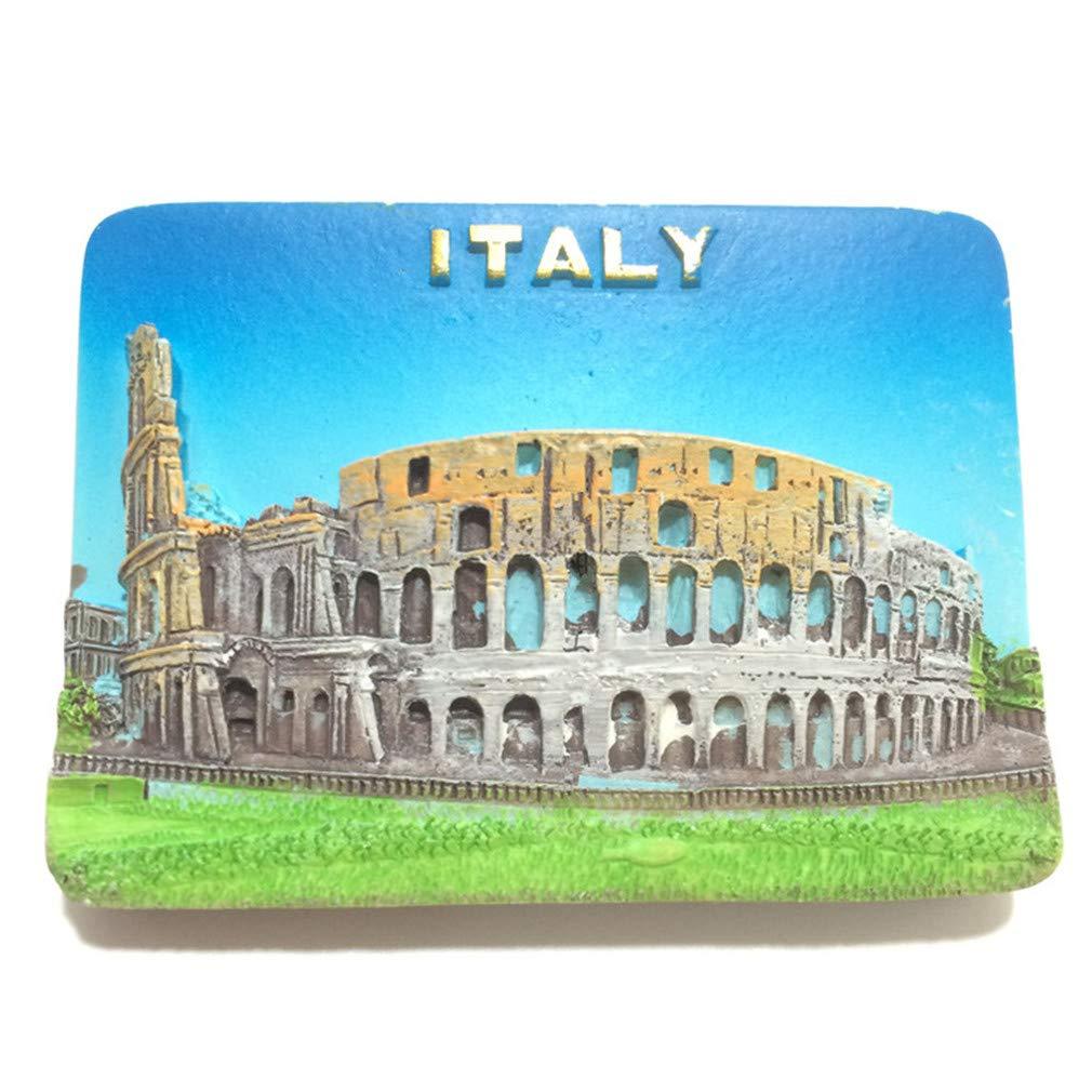Bella 3D Magnet Frigo Aimant Frigo Aimant R/éfrig/érateur D/écor Voyage Vacances Souvenir de Italie Soldat Romain Fridge Magnet Sticker