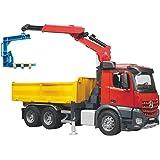 BRUDER MB Arocs Construction truck with accessories - vehículos de juguete (Rojo, Amarillo, Niño)