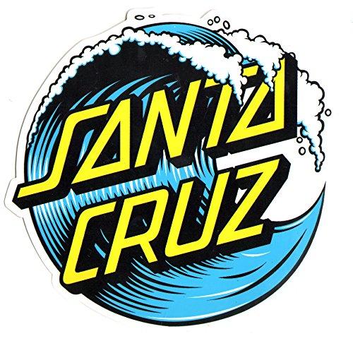 Santa Cruz Wave Dot Skateboard Sticker - 16cm in size at it's widest point - skate snow surf board bmx (Cruz Santa Stickers)