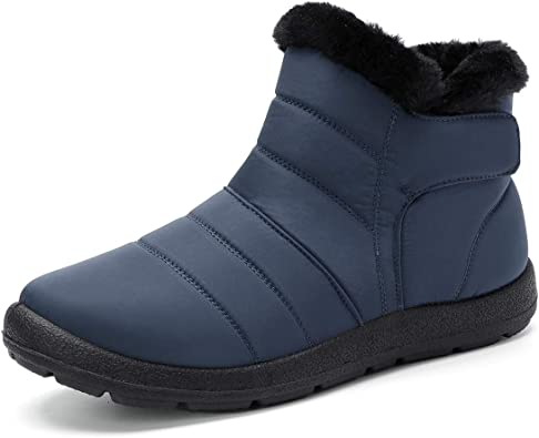 Women Winter Snow Boots Waterproof Warm Plush Lining Flat Ankle Thickening Shoes