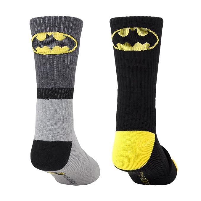 Amazon.com: Batman para hombre Athletic Crew – Calcetines (2 ...