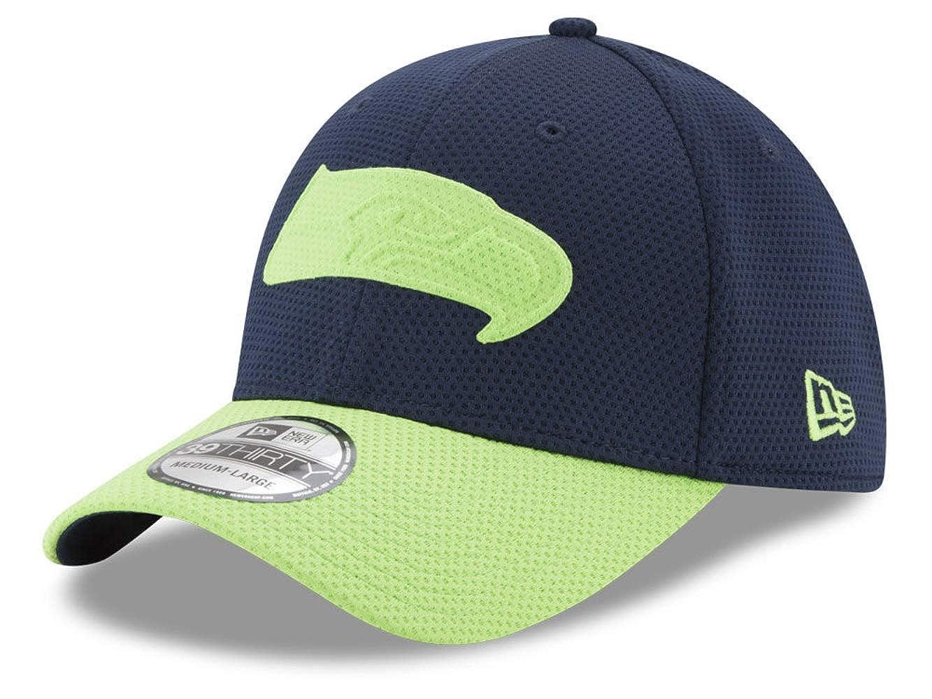 low priced 2abf4 ebb7c Amazon.com   New Era NFL Men s Logo Surge 39Thirty Stretch Fit Cap    Clothing