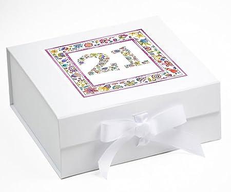 Caja de recuerdo de 21º cumpleaños, 21 regalos de cumpleaños ...