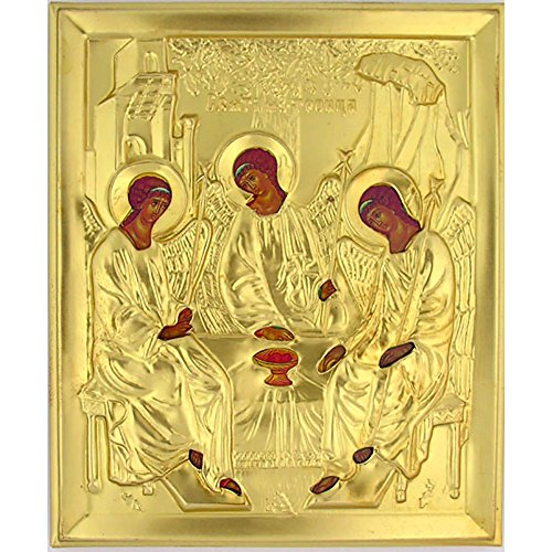 (Russian Orthodox Holy Trinity Icon 5 1/4 Inch)