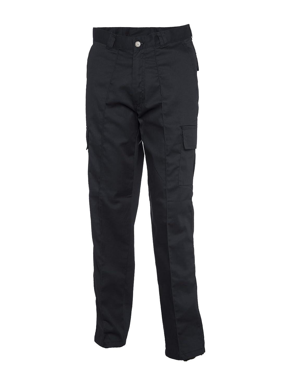 Mens Cargo Combat Work Trousers Sizes 28'- 52' Workwear Pants (30'W - 29' Short Leg, Black)