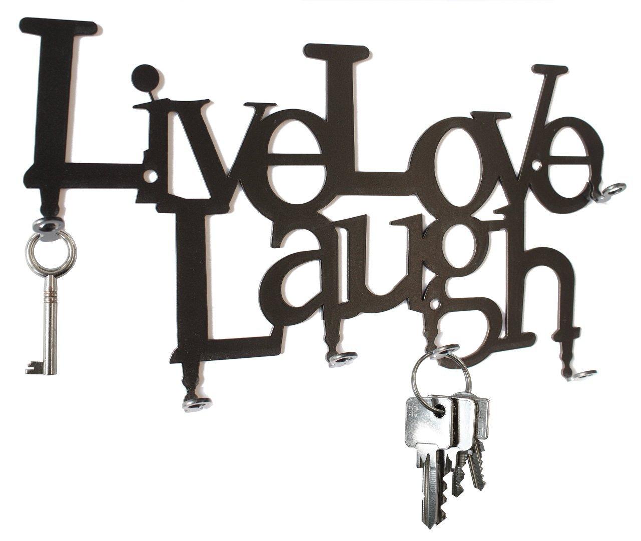 Live Love Laugh - Wall Key Hooks - Holder, Hanger Design steelprint.de SB30-0004-01