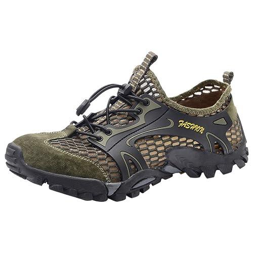 6fb7cba43 Zapatos de Agua de Verano para Hombres Ocasionales Piscina Playa Natación  Cordón Zapatos de Buceo de Creek  Amazon.es  Zapatos y complementos