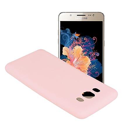 Yunbaozi Funda para Samsung Galaxy J5 2016 SM-J510F, Protective Case Carcasa Caucho Funda para Protectora de Silicona Caramelo Ultra Suave Flexible ...