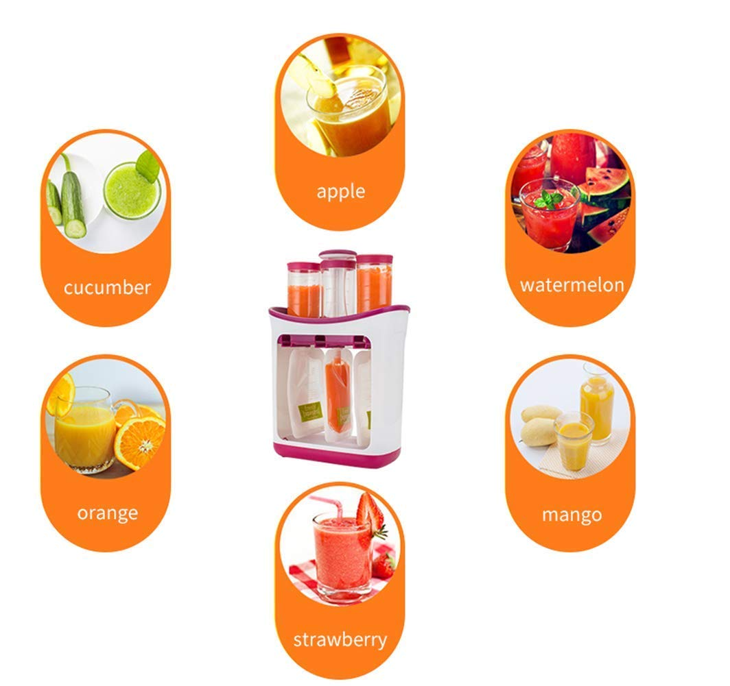 The Station for Squeezing Baby Food Comes with Reusable Bags and Spoons by ZANGZ (Image #5)