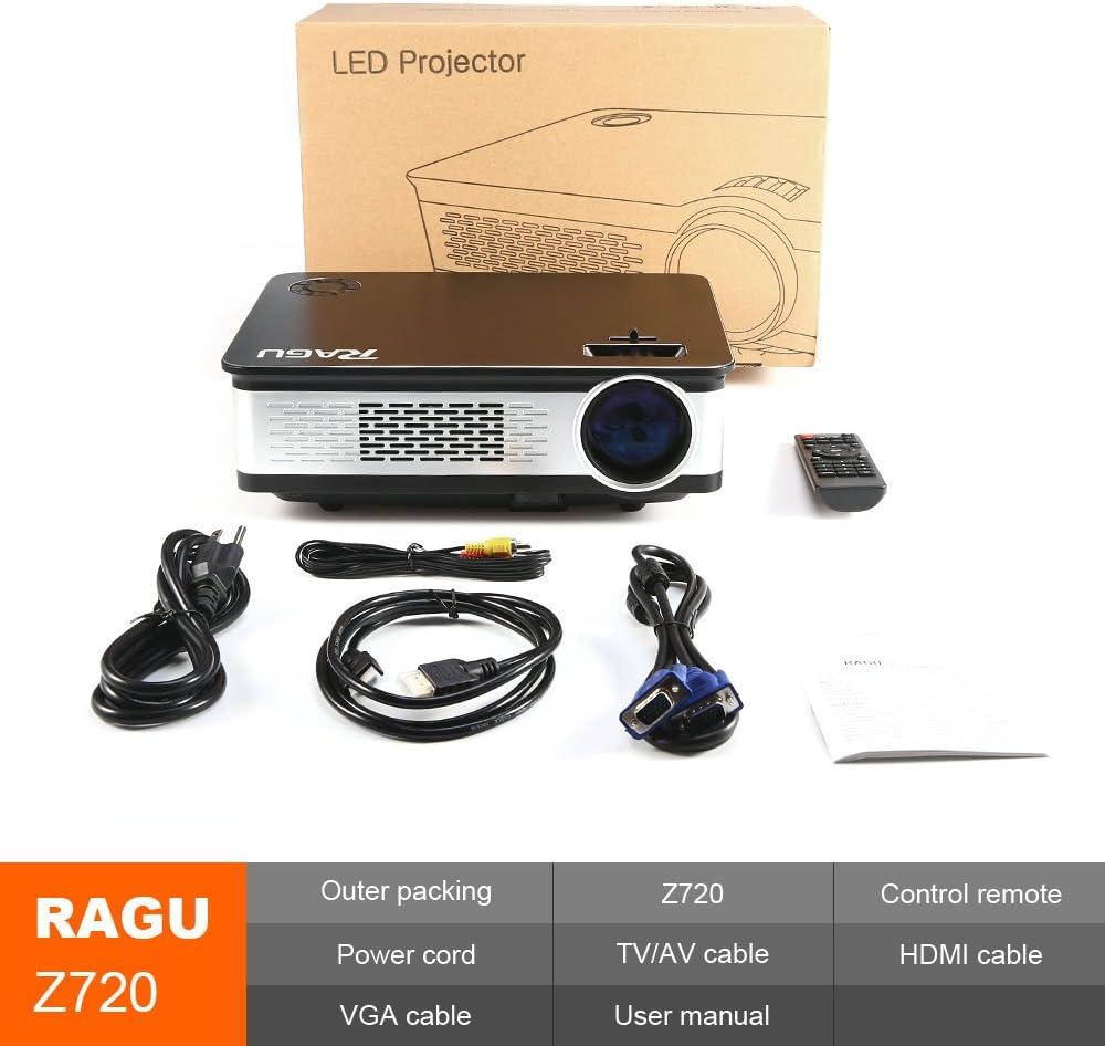 Video Projector, RAGU Z720 HD Projectors Portable Movie Projector ...