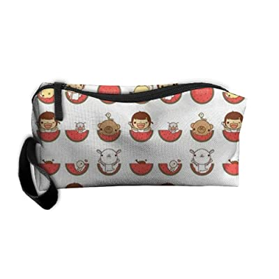 NEW Watermelon-derived Animals Women¡¯s Travel Cosmetic Bags Small Makeup Clutch Pouch Cosmetic And Toiletries