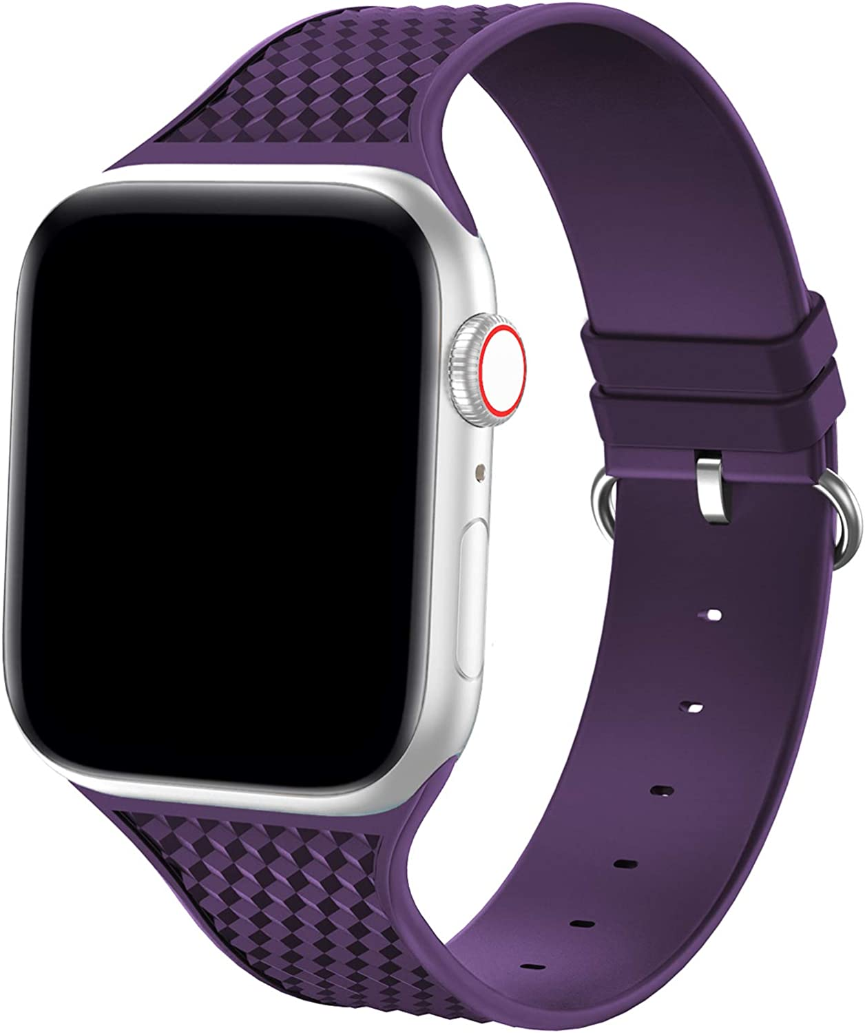 YAXIN Sport Band Compatible with Apple Watch Band 38mm 40mm iWatch Bands Women Men, Premium Silicone Soft Replacement Band Compatible for Apple iWatch Series SE/6/5/4/3/2/1,Modena