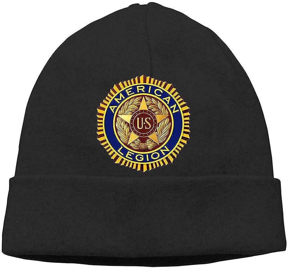 Hgfyef - Gorro de cobertura unisex elástico, para adultos, gorro casual, gorras de reloj de tobogán, gorra de calavera americana de Legión para hombre y mujer, gorro de punto de invierno