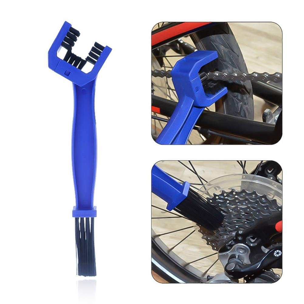 Multi-Purpose Maintenance Cleaning Brush Cleaner Tools with Chain Gear Cleaner and Pry Bar for Road Mountain Cycling Bicycle XQL 8pcs Motorcycle Bike Chain Gears