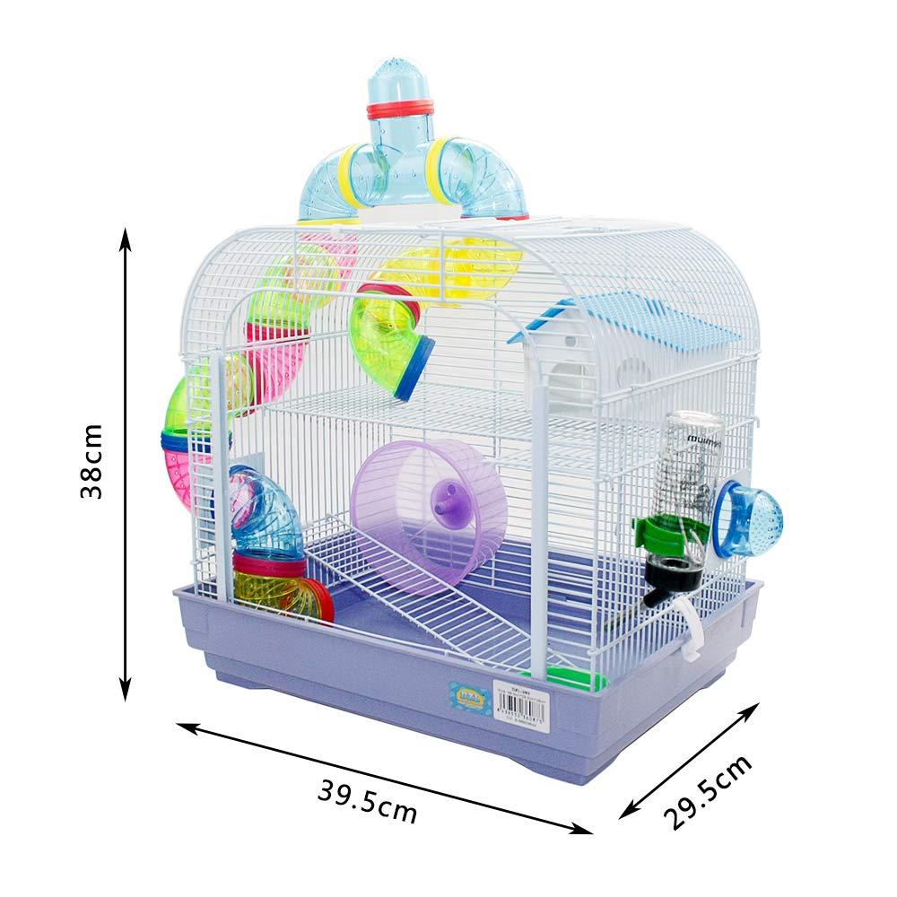 DZL Jaula para Hamster Medidas:29.5X29.5X38CM (púrpura): Amazon.es ...