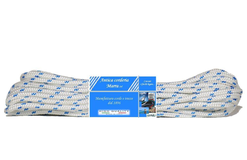 30/m /Zopf Nautica Strang 6/mm Antike corderia Marra/ wei/ß mit F/ähigkeitskarten hellblau
