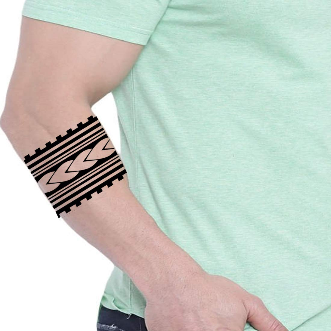 Voorkoms Mom Dad Hand Band Waterproof Body Temporary 2 Design Tribal Tattoo Combo Amazon In Beauty