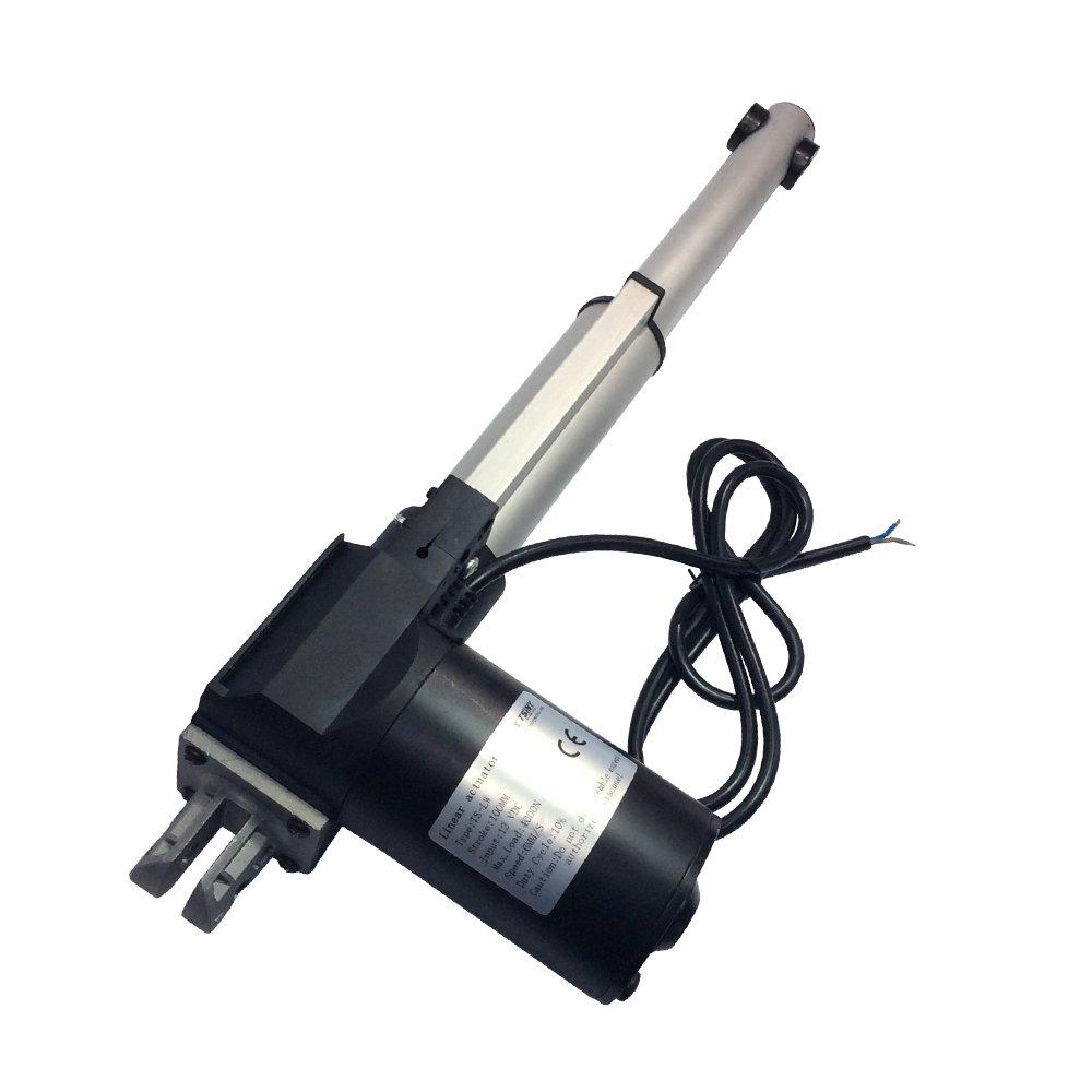 BEMONOC Stroke 100mm 4'' inch 12V Heavy Duty 4000N 881Lbs DC Linear Actuator Speed 10mm/s