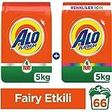 Alo Platinum 5 kg + 5 kg (10 kg) Toz Çamaşır Deterjanı Fairy Etkili + Fairy Etkili Renkliler İçin