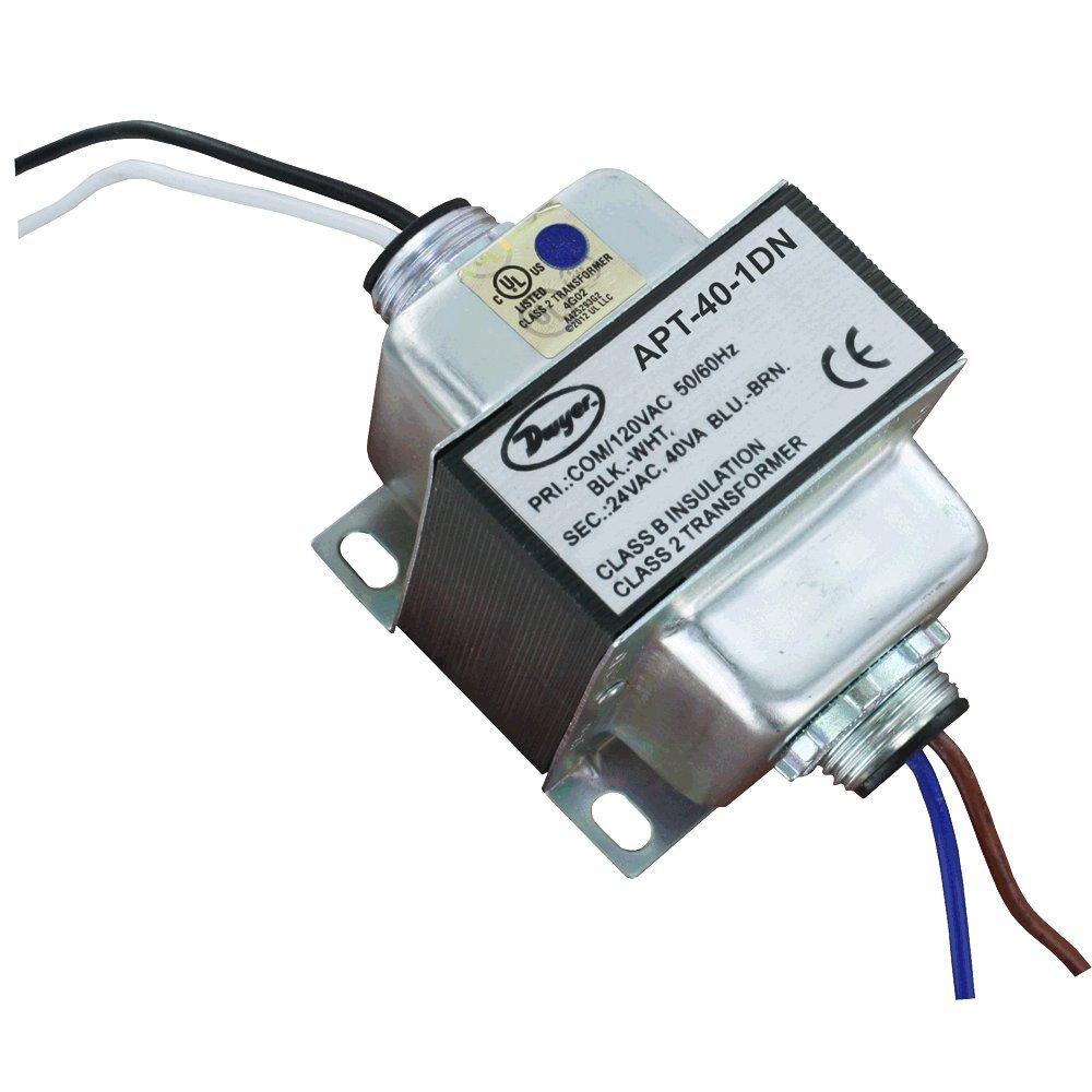 Dwyer® AC Power Transformer, APT-100-1DB, 96 VA, 120 VAC Input, Dual Hub, w/ Circuit Breaker