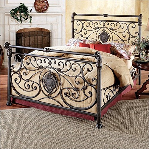 Hillsdale Furniture 1039BQR Mercer Bed Set with with Rails, Queen, Antique Brown by Hillsdale Furniture