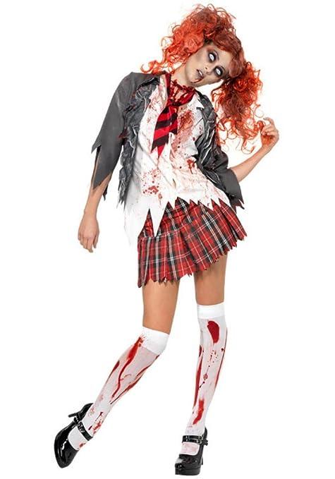 Costume da studentessa zombie - In 3 pezzi - Costume da donna per Halloween  o altre b969f559efbf