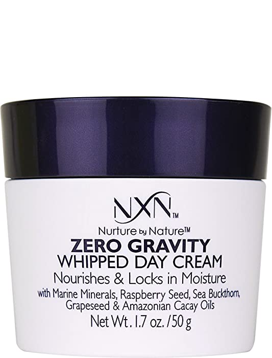 NxN Zero Gravity Whipped Day Cream Face Moisturizer, Natural and Organic Anti Aging Formula for Dry or Sensitive Skin, Men and Women, 1.7 Oz
