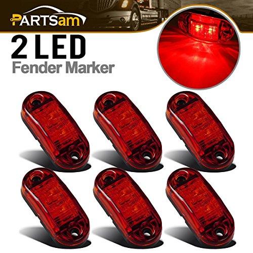 Partsam 6Pcs Red LED 2 1/2