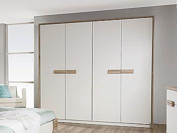 Paula giratoria de armario de puertas/armario ropero de colour blanco de/de madera de roble de colour claro, 185 cm: Amazon.es: Hogar