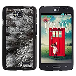 Etui Housse Coque de Protection Cover Rigide pour // M00152477 Antecedentes Animal Pájaro Negro Pluma // LG Optimus L70 MS323