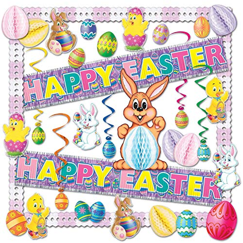 Beistle 44205 26-Piece Easter Decorating Kit