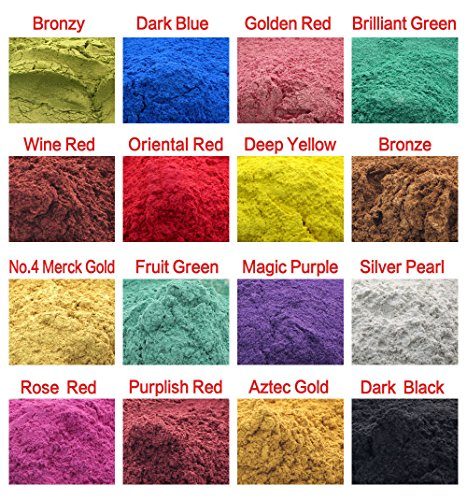 160g Cosmetic Grade Natural Mica Powder Pigment For DIY Soap Candle Making,Eye shadow, Toiletry Crafter, Colorant Dye 16 Colors (10 grams Each, 160 Grams Total)