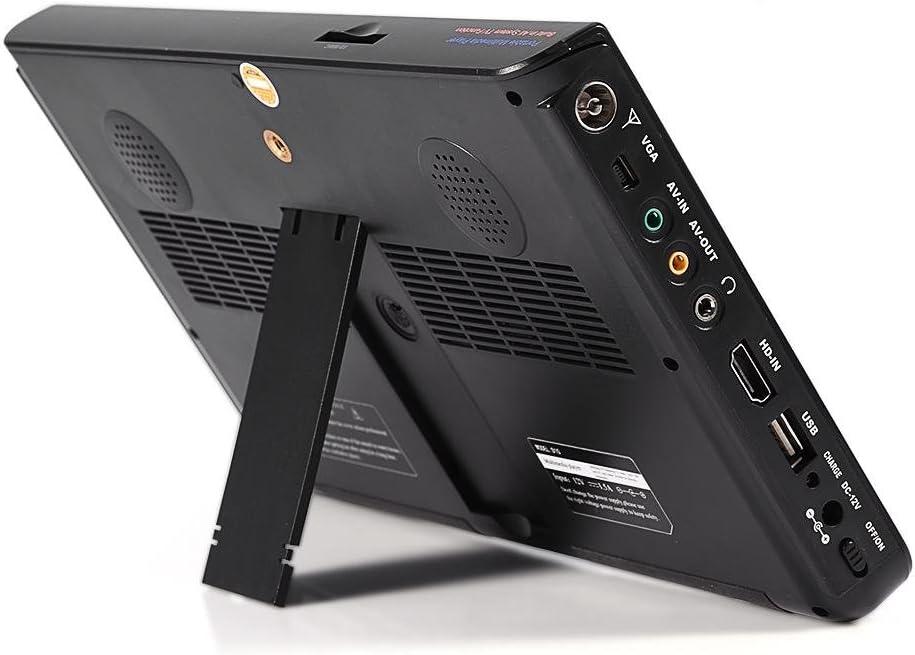 garsent Televisión LCD portátil de 10 Pulgadas, TV analógica con TV DVB-T-T2 1080P HD con baterías Recargables de 1200 mah y Antena para habitación, Cocina, Caravana,Coche,etc.: Amazon.es: Electrónica