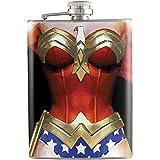 8oz - Wonder Woman Body Shape Liquor Hip Flask Stainless Steel FK-0657