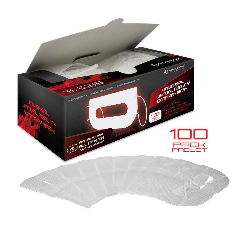 Hyperkin Universal VR Sanitary Mask V2.0 for HTC Vive/ PS VR/ Gear VR/ Oculus Rift (White) (100-Pack) M07277-WH