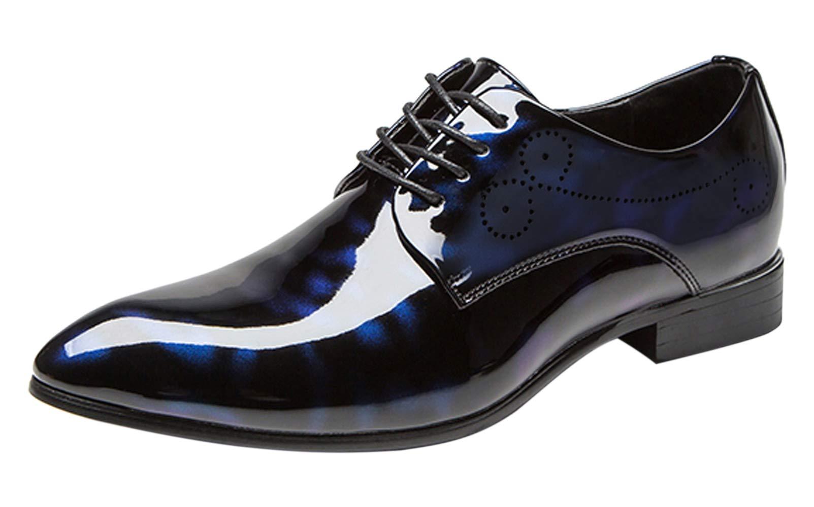 Dress Shoes Men Pointed Toe Floral