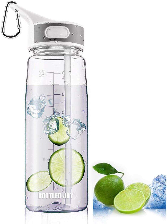 Bottled Joy Deportes Botella De Agua Con Pipeta 100% BPA Free ...