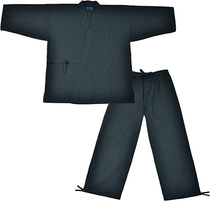 Edoten Mens Japan Kimono Ninjya Cotton100% Samue